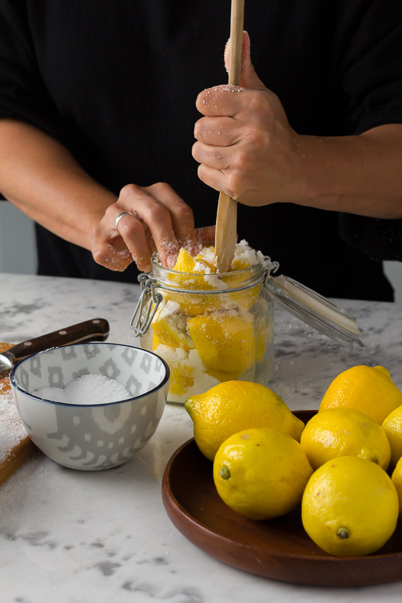 Making Preserved Lemons